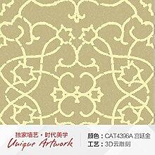 Continental modernen minimalistischen Vlies Tapete geprägten Textur 3D Wallpaper Wohnzimmer,Schlafzimmer Tapete Palace Kim Jin