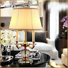 Continental Nachttischlampe Schlafzimmer Luxus-Wohnzimmer-Lampe Kristalllampe Personalisierte Dekoration Lamp Hotel Lamp