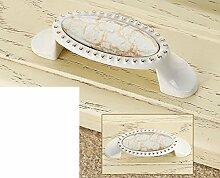 continental pastorale Elfenbein Griff/Marmor Keramik Griff/Hardware Cabinet Schuh Schrank Möbelgriff/Kleiderschrank Schublade Türgriff-F