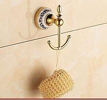 Continental Porzellan Haken/[Gold Edelstahl]/Antike Bad-Accessoires Bad-Suite-G