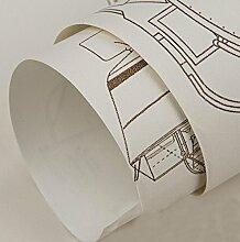 Continental simple wallpaper aircraft druck cartoon tapete vlies aufkleber (0,53 mt * 10 mt) , 2 , 0.53m*10m