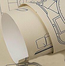 Continental simple wallpaper aircraft druck cartoon tapete vlies aufkleber (0,53 mt * 10 mt) , 4 , 0.53m*10m