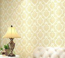 Continental Tapete Wohnzimmer Schlafzimmer Hintergrund Wallpaper Wallpaper 0,53 M * 9,5 M, Licht golden braun