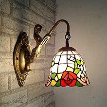 Continental Tiffany-Lampen Restaurant Lichter Beleuchtung Lampen Schlafzimmer Lampen Badezimmerspiegel Frontleuchte Wandleuchte Lampe Nixe Mittelmeer