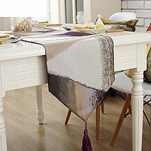 Continental Tischdecken/Tetabellentuch/Garten Tischdecke/Einfache moderne Spitze Tischl?ufer-B 32x160cm(13x63inch)
