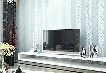 Continental vertikalen Streifen Tapete ist einfach Vlies modernes Wohnzimmer TV Hintergrund 3D Tapete Schlafzimmer Stereo, blau, 0.53m*10m