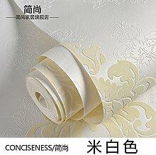 Continental Vlies Tapete Wohnzimmer Schlafzimmer Tapete 3D DAMASKUS TV Hintergrund gepr?gt, m, Wei?