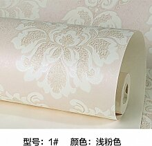 Continental Wallpaper 3D Stereo sub-Kim Mann - geflieste Wohnzimmer Schlafzimmer TV-Wand Vlies Tapete,light pink