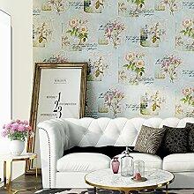 Continental wallpaper idyllische große BlumeStereoDie Schlafzimmer der Bett Wohnzimmer TV Hintergrund Ehe Zimmer Vlies Tapete