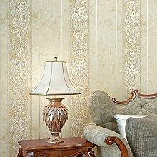 Continental wallpaper luxuriöse Schlafzimmer 3D Stereo vertikale Streifen Wohnzimmer TV Hintergrundbild,warmen Beige