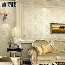 Continental wallpaper luxuriöses Leben Vliestuch Damaskus Tapete Schlafzimmer sofa 3D-Wand,DA-03B 0201 stereo