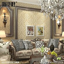 Continental wallpaper luxuriöses Leben Vliestuch Damaskus Tapete Schlafzimmer sofa 3D-Wand,DA-03B 0205 stereo
