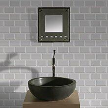 Contour White Metro Tapete für Küche/Badezimmer