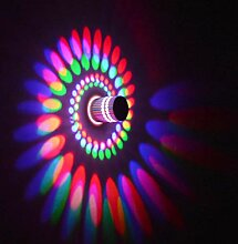 Coocnh 3W LED Wandleuchte Aluminium Wandlampe
