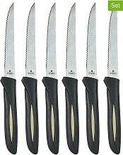 COOK CONCEPT - 6er-Set: Steakmesser in Schwarz/