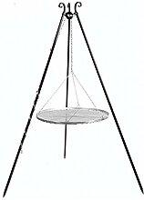 CookKing Dreibeingrill, Höhe 180cm, Rost
