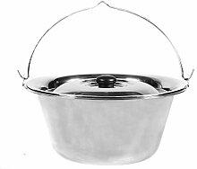 CookKing Kessel Topf aus Edelstahl 10 Liter mit