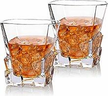 Cooko Iceberg Whisky Gläser, Kristallglas Whiskey
