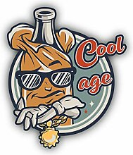 Cool Age College Emblem - Self-Adhesive Sticker