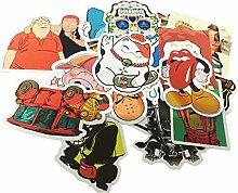 Cool Aufkleber für Laptop Macbook Skateboard Snowboard Gepäck Koffer iPhone Car Bike Bumper Sticker Bomb Pack–Vintage Retro Pop Art Graffiti Super Cool Aufkleber Aufkleber Pack