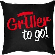 Cool bedruckte Sofa Kissen 40x40 : to go / Griller
