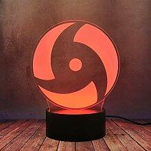 Cool Cartoon Uchiha Sasuke Schreibtischlampe 3D