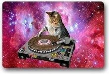 Cool Universe DJ Cat Lustige Tier Fußmatten