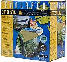 Coolaroo Marken SONNENSEGEL - Farbe: Weiß - Dreieck 3,60x3,60x3,60m - Sonnenschutz Segel aus HDPE Strickgewebe
