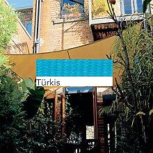 Coolaroo Sonnensegel Viereck Quadrat 3,6m x 3,6m Türkis Sand, Terra, Farbauswahl:Tuerkis