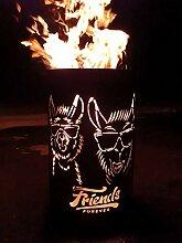 Coole Feuertonne / Feuerkorb mit Motiv  Lama -