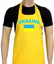 Coole-Fun-T-Shirts Uni Grillschürze EM 2012 Ukraine, gelb, One size, GS10483_Ukraine_Gelb