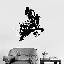 Coole Fußball Fußball Spieler Wandaufkleber,