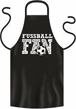 Coole Grill- oder Kochschürze -- FUSSBALL FAN --