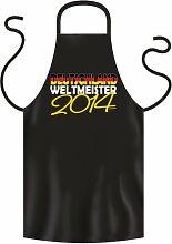 Coole Grill- oder Kochschürze -- WELTMEISTER 2014