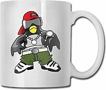 Coole Hip Hop Pinguin Mode Kaffeetasse Porzellan