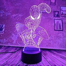 Coole Marvel Spiderman 3D-LED-Lampe Nachtlicht