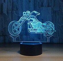 Coole Motorrad Acryl 3D Nachtlicht LED Stereo