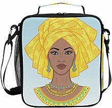 Cooler Lunch Box African Beauty Insulated Lunch