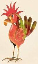Cooler Metall Vogel Gartendeko stehend Höhe 54 cm sowie Breite 35 cm