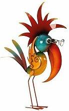 Cooler Metall Vogel Gartendeko stehend Höhe 57 cm