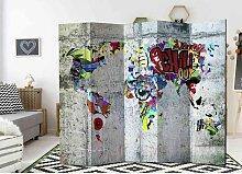 Cooler Raumteiler Paravent Graffiti Motiv modern