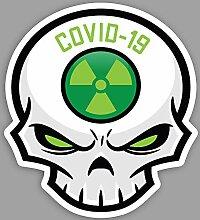 Cooler Totenkopf (grün) Essential Worker Sticker