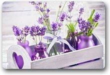 Cooles Design Lila Lavendel Flower Art Fußmatte