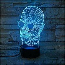 Cooles Geschenk 3D Lampe Neuheit Männer Mit