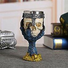 Coolest Gothic Harz Edelstahl Dragon Skull Kelch