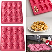 Cooljun Silikon Cake Pop Backform,12 Schweinchen