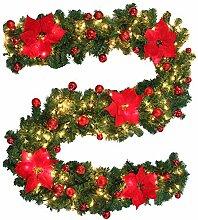 Coolmarteu Weihnachtsgirlande Tannengirlande 2.7M