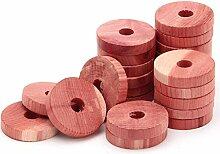 Coolrunner 24 Stück künstliche Zedernholz-Ringe,
