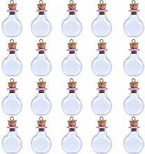 Coolty 20 Stück Mini Glasflaschen, Mini Leere
