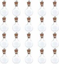 Coolty 20 Stück Mini Glasflaschen Wünschen, Mini
